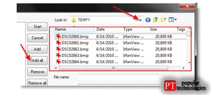 После добавления всех файлов выберите формат выходного файла, как показано ниже