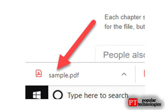 После изменения тотже PDF-файл загружен намой компьютер, нонеоткрывается вбраузере