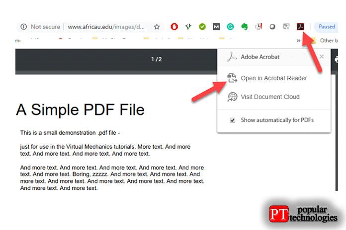 С помощью этого плагина, когда мы щелкаем файл PDF, как обычно