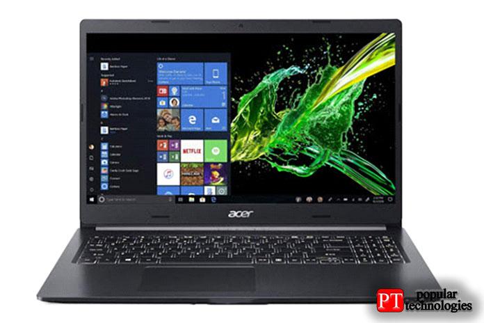 Тонкий ноутбук Acer Aspire 5