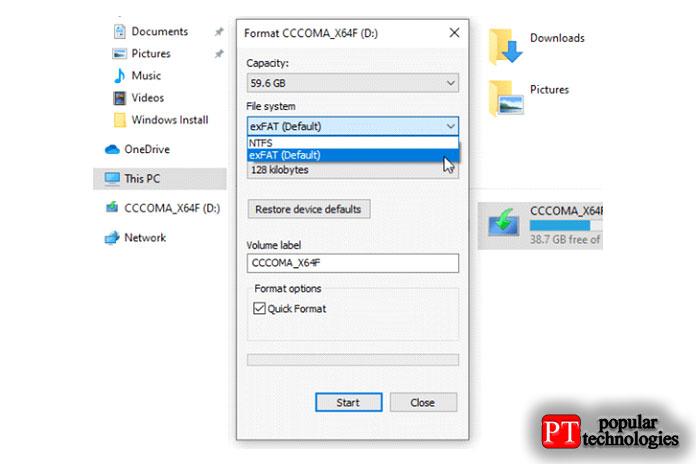 Убедитесь, что файловая система установлена