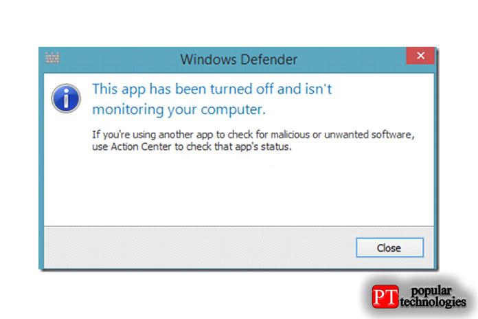 Вот ивсе, мыуспешно удалили Защитник Windows