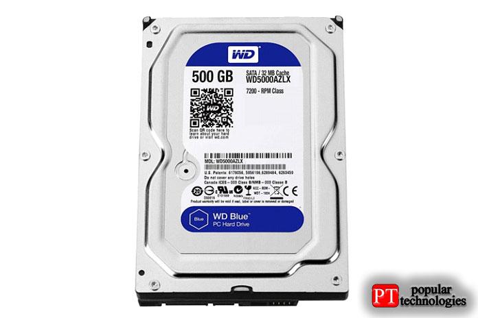 WD Blue емкостью 500 ГБ