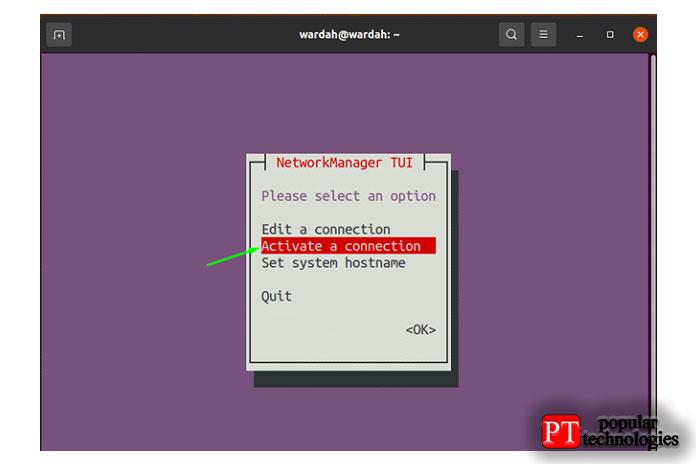 Чтобы перезапустить сеть, вернитесь в главное окно и выберите опцию