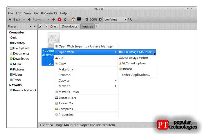 Если ввашем файловом менеджере непоявляется запись правой кнопкой мыши