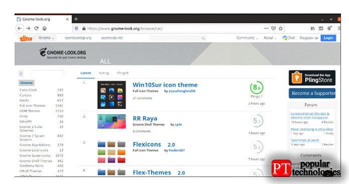 Есть несколько источников для получения тем macOS для операционной системы Linux