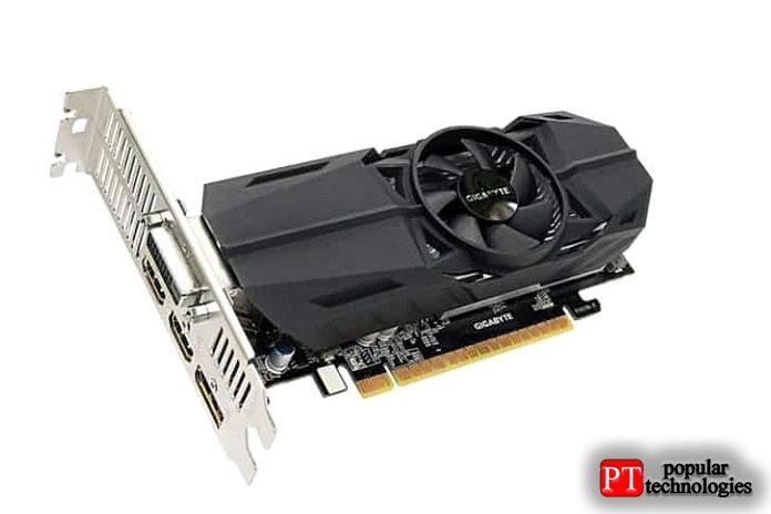 Gigabyte Geforce GTX 1050 Ti OC, 4 ГБ