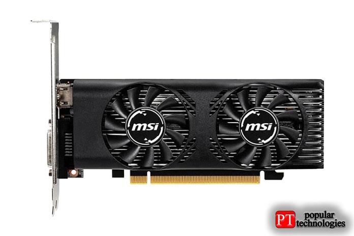 Графическая карта MSI GeForce GTX 1650 4GT LPOC