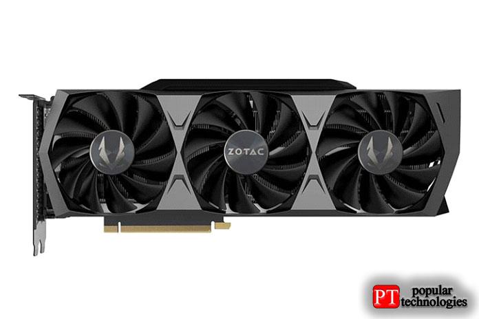Игровая видеокарта ZOTAC GeForce RTX 3090 Trinity