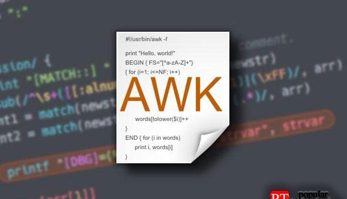 Как использовать несколько разделителей в AWK