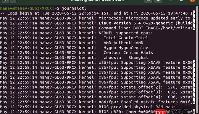 Linux Journalctl