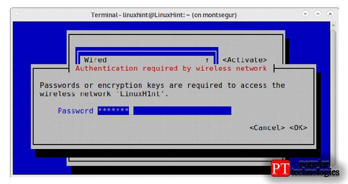 Наследующем экране будет запрошен пароль, введите его инажмите ENTER