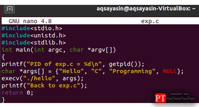 Напишите внем весь приведенный ниже код языка C