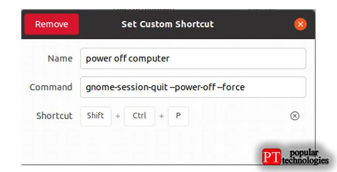 После того, как вынажмете клавиши, появится следующее окно, отображающее нажатые вами кнопки