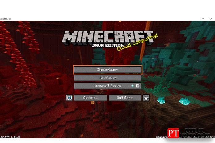 Сначала запустите Minecraft инажмите «Одиночная игра»
