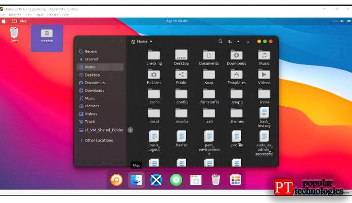 Тема MacOS была применена кмашине Ubuntu2