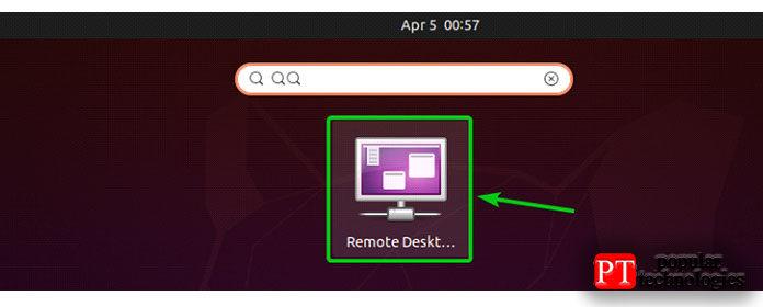 Во- первых, открытая Vinagre удаленного рабочего стола клиента изменю приложения вашего компьютера