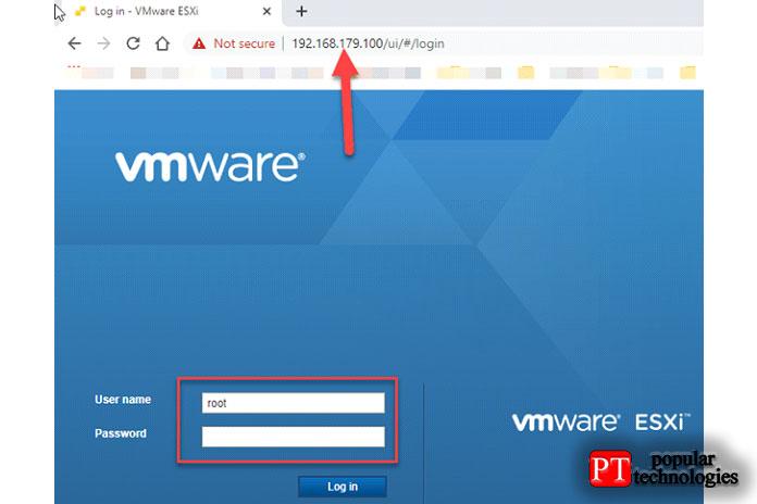Введите IP-адрес сервера в веб-браузере