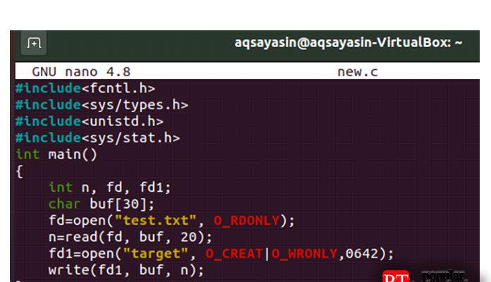 Введите внего код, показанный ниже