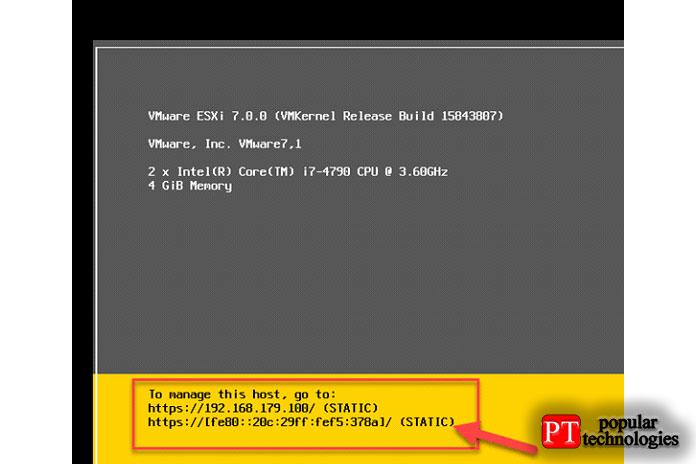 Вы увидите новый сетевой IP-адрес и его тип