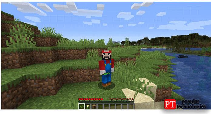 Запустите игру ииграйте соскином Марио