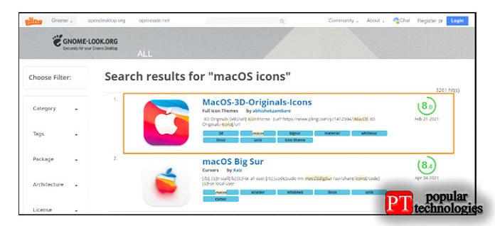 сайт снова, поиск для MacOS набора иконок ивыбрать любого изних