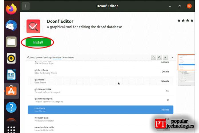 Dconf-Editor можно загрузить измагазина программного обеспечения Ubuntu