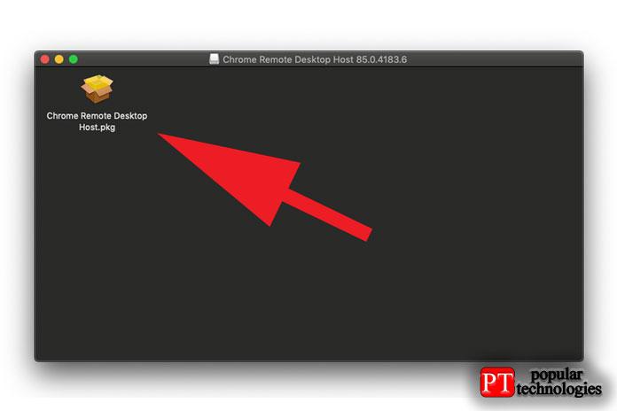 Должно появиться окно сфайлом Chrome Remote