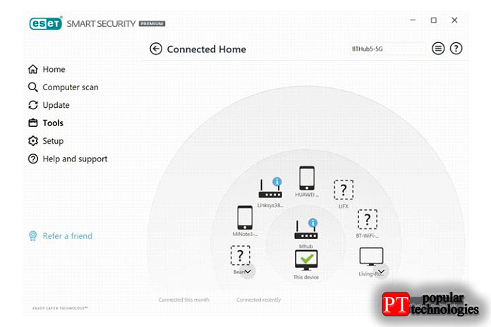 Есть Connected Home Monitor