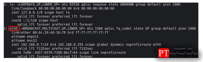 Это покажет вам все сетевые интерфейсы, доступные ввашей системе, имя иIP-адрес