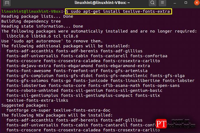 Используйте следующую команду для установки пакета texlive-fonts-extra
