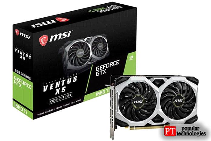 MSI Gaming GeForce GTX 1660Ti Ventus 6ГБ