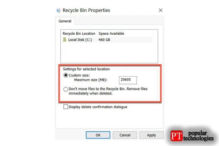 Однако, как говорится далее, это означает, что файлы безвозвратно удаляются свашего компьютера после удаления