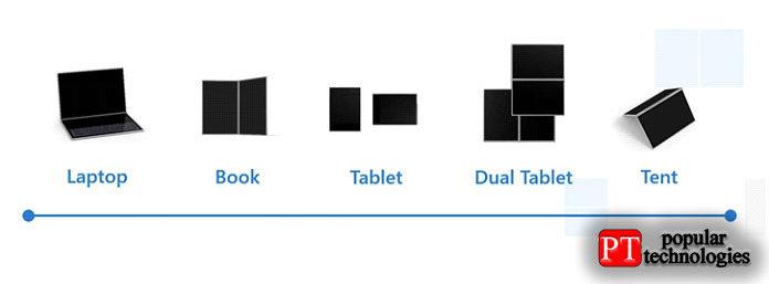 Устройства сWindows 10X можно использовать впяти различных режимах