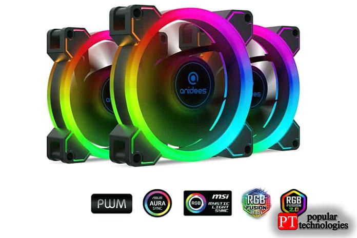 Вентилятор Anidees AlAureola Duo 80мм сRGB-подсветкой