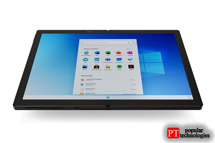 Вот онрастянут надва экрана Lenovo ThinkPad X1Fold