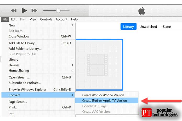 азатем нажмите «Создать версию для iPad или AppleTV»