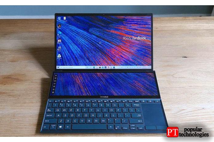Это самый маленький ноутбук влинейке ZenBook Duo