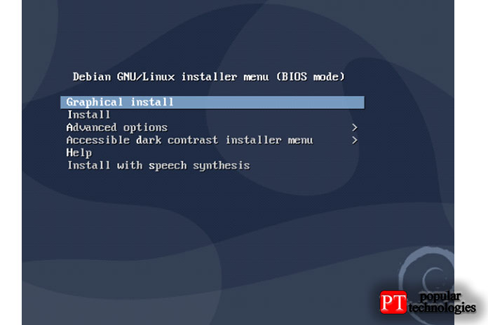 Например, если явыберу ISO-образ Debian