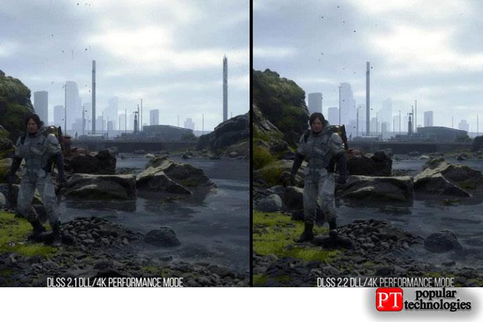 Nvidia DLSS 2.1 против DLSS 2.2 Death Stranding
