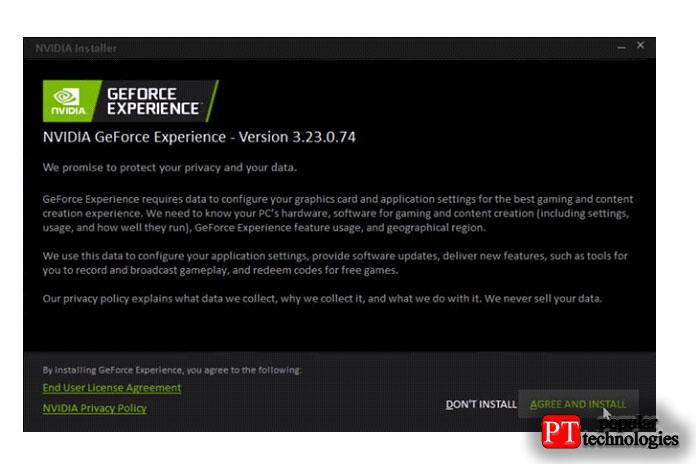 После инициализации GeForce Experience выувидите, какую версию