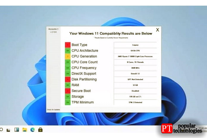 Проверьте, можетли ваша система работать сWindows 11