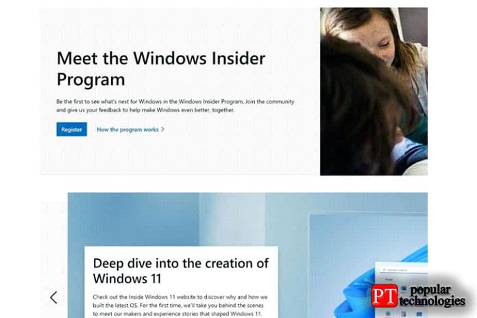 Регистрация впрограмме предварительной оценки Windows