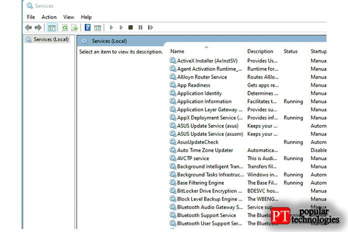 Теперь найдите всписке опцию «Служба поддержки Bluetooth»