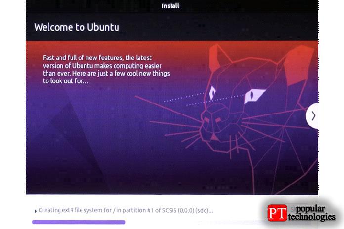 Ubuntu будет установлен наваш внешний диск
