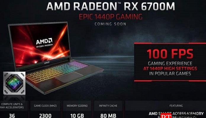 Утечка производительности AMD Radeon RX 6700M