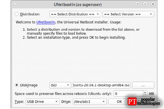 Выберите один изISO-образов, который выхотите использовать вкачестве загрузочного сUSB-диска