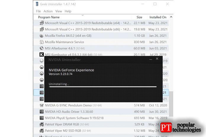 Загрузите приложение инайдите всписке приложение GeForce Experience