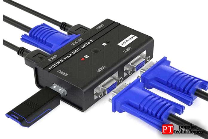 2-портовый KVM-переключатель MT-VIKI