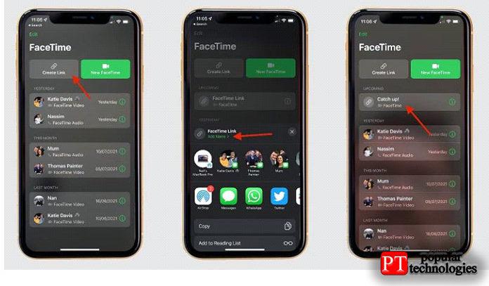 FaceTime для пользователей Android и Windows